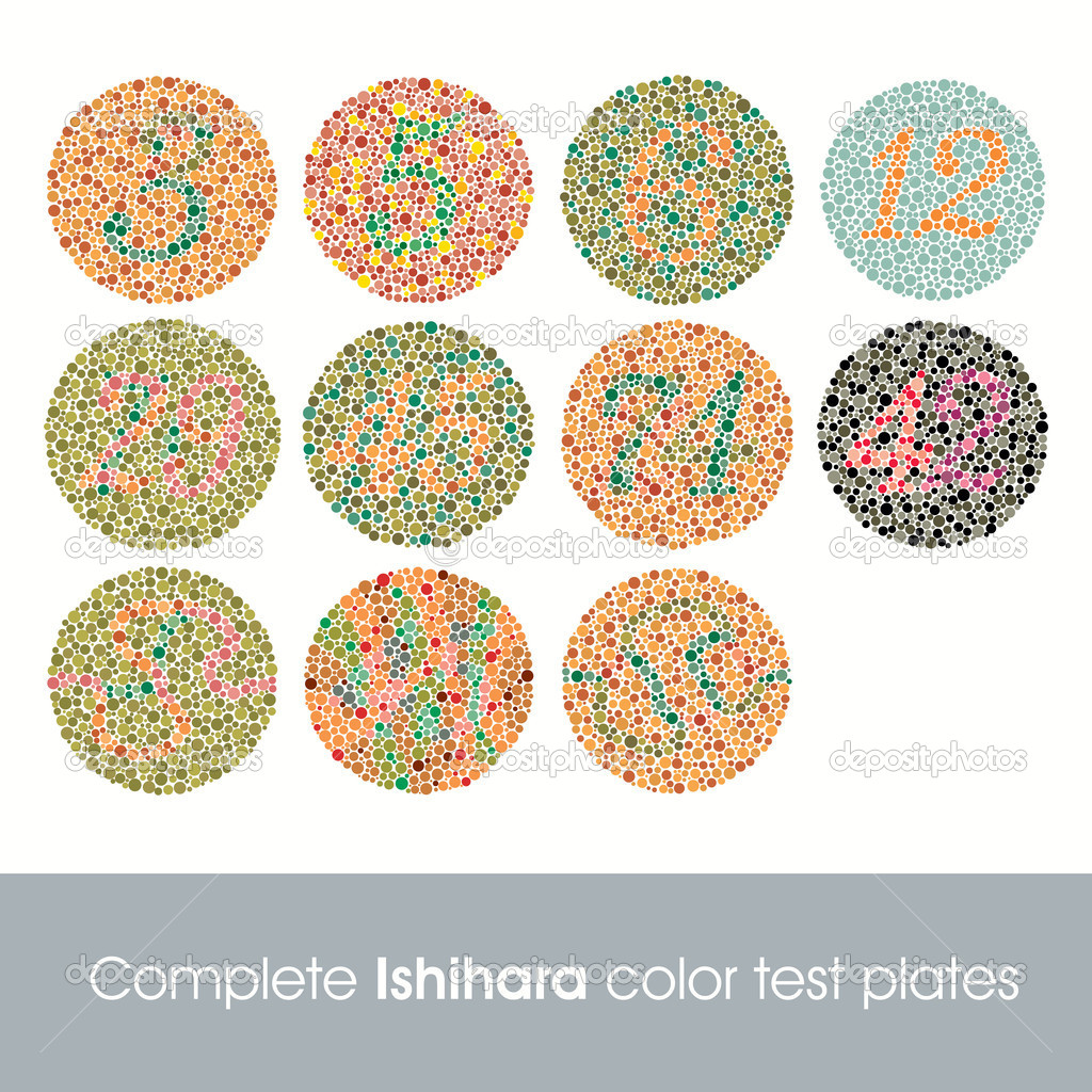 Complete Ishihara Color Test Plates — Stock Vector © kaludov #6776121