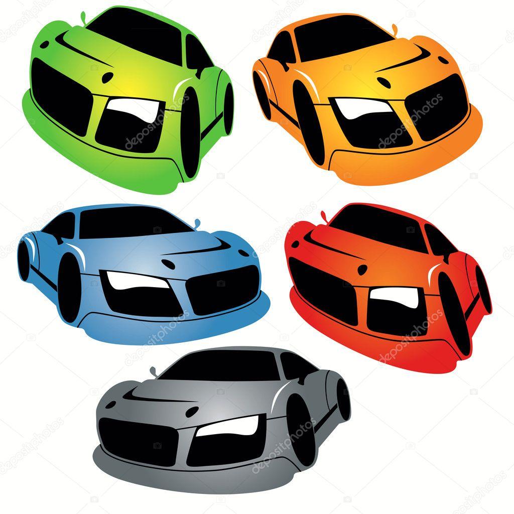 Cartoon Style Racing Cars Set Stock Vector C Kaludov