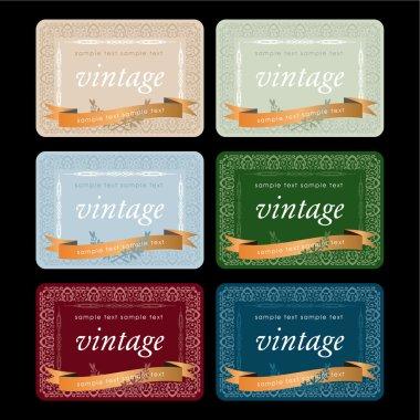 Vintage Wine Labels Set