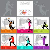 Volleyball Moments 2012 Calendar Template