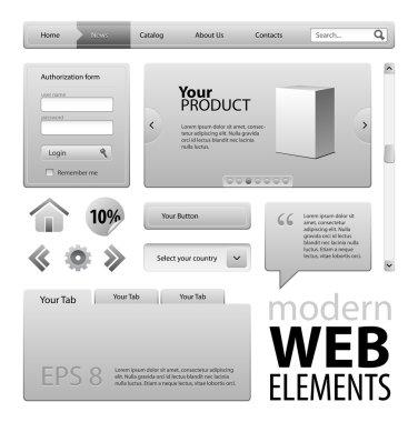Grey Website Design Elements