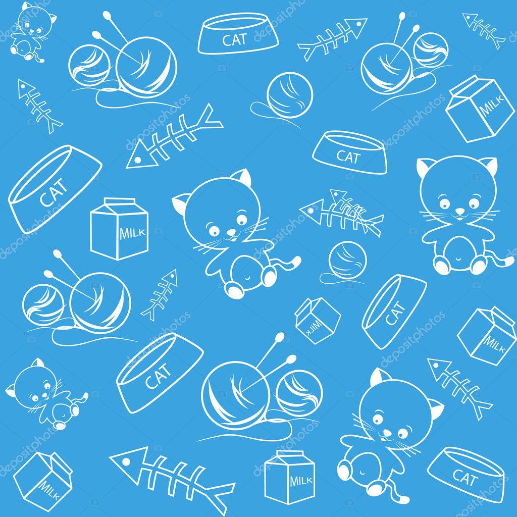 Blue Funny Background Stock Vector C Semenchenko 6754214