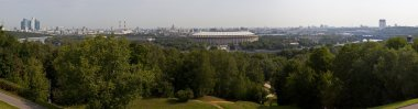 Moscow Panoramic View from Vorobyovy Hills