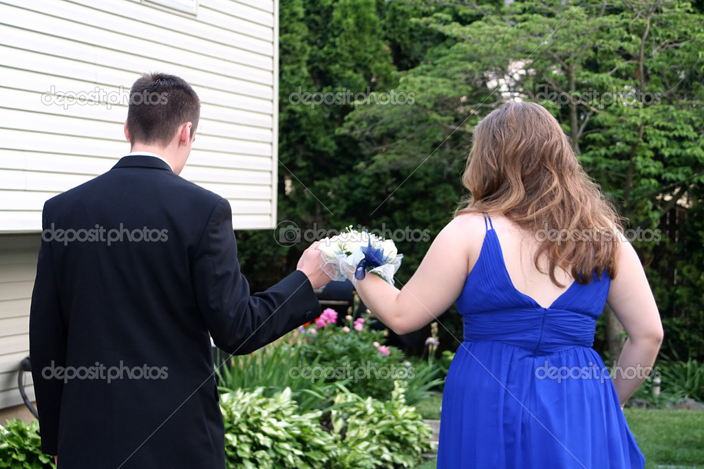 Prom Couple Walking Together