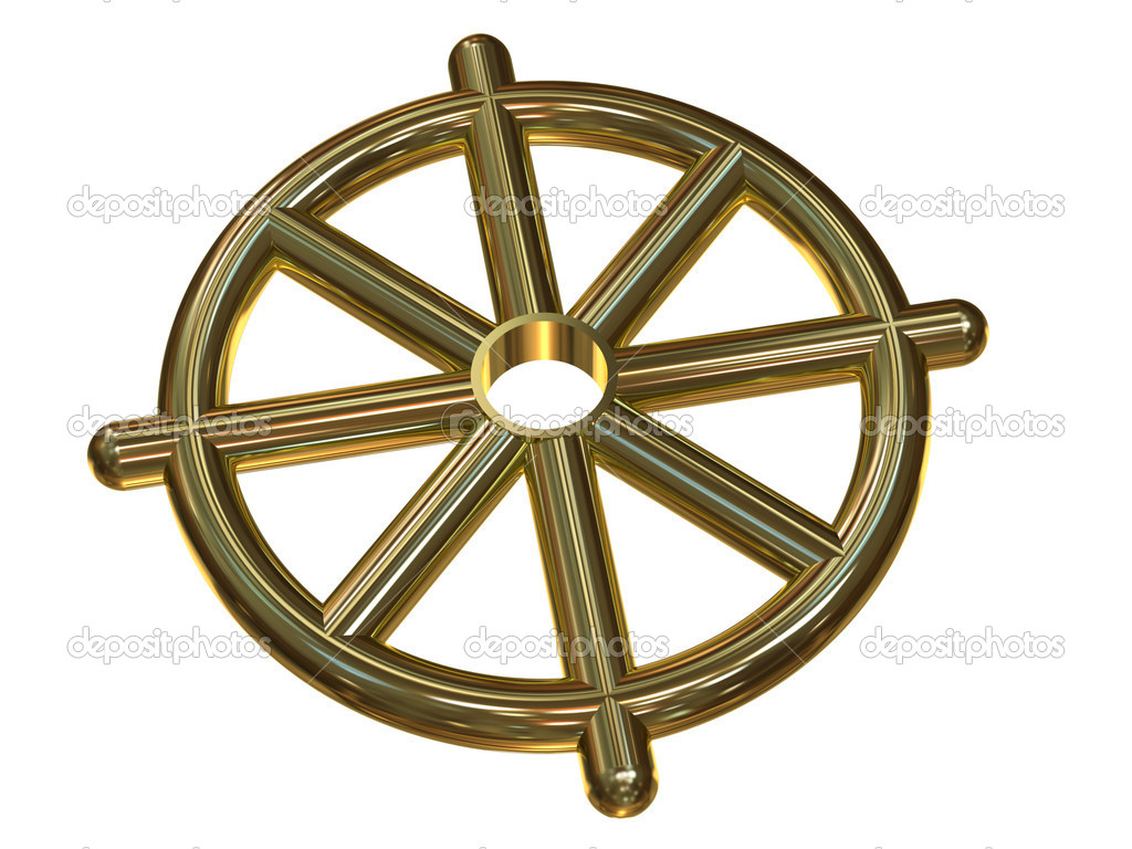 Buddhist Wheel Symbol Dharmachakra Stock Photo Onvial 6787634