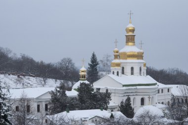 Near Caves of Kiev-Pechersk Lavra in winter