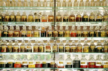 Perfume shop in cairo souk egypt