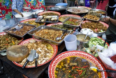 Thai street food in bangkok thailand