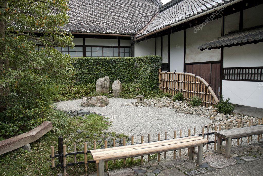 Jardin De Pierre Traditionnel Japonais A Kyoto Au Japon