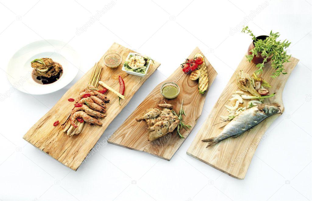 Leckere Sommer Essen Leichte Gesunde Gerichte Frische Küche Auf Outd