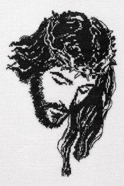 Jesus Christ cross stitch