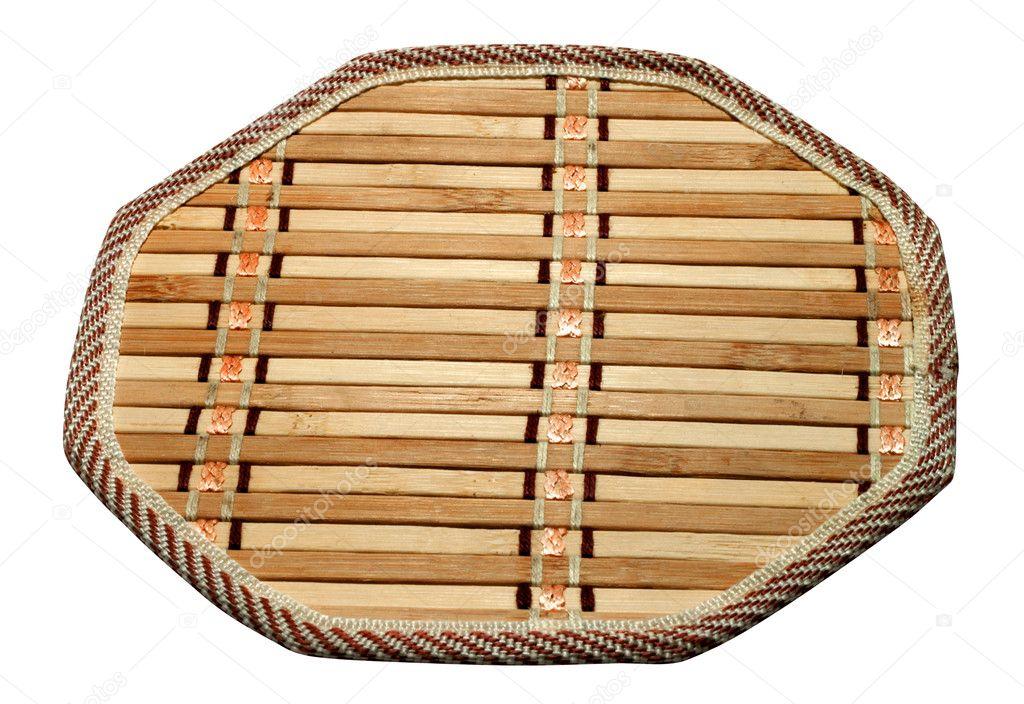 Trivet De Cozinha De Bambu Stock Photo C Doomu 7336193
