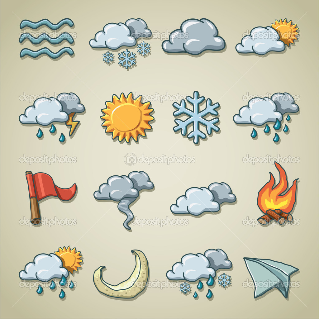 Freehands icons - weather