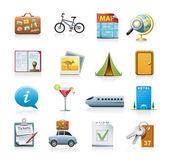 utazási ikon készlet