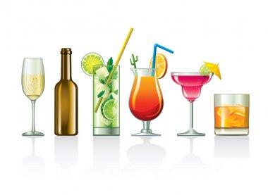 Illustration - cocktail set