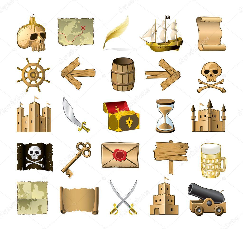 Treasure Island Map Symbols