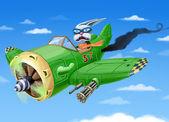 Fényképek zöld repülőgép zuhan