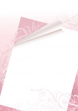 Romantic letter background