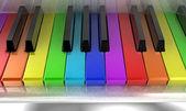 Fotografia il pianoforte di arcobaleno