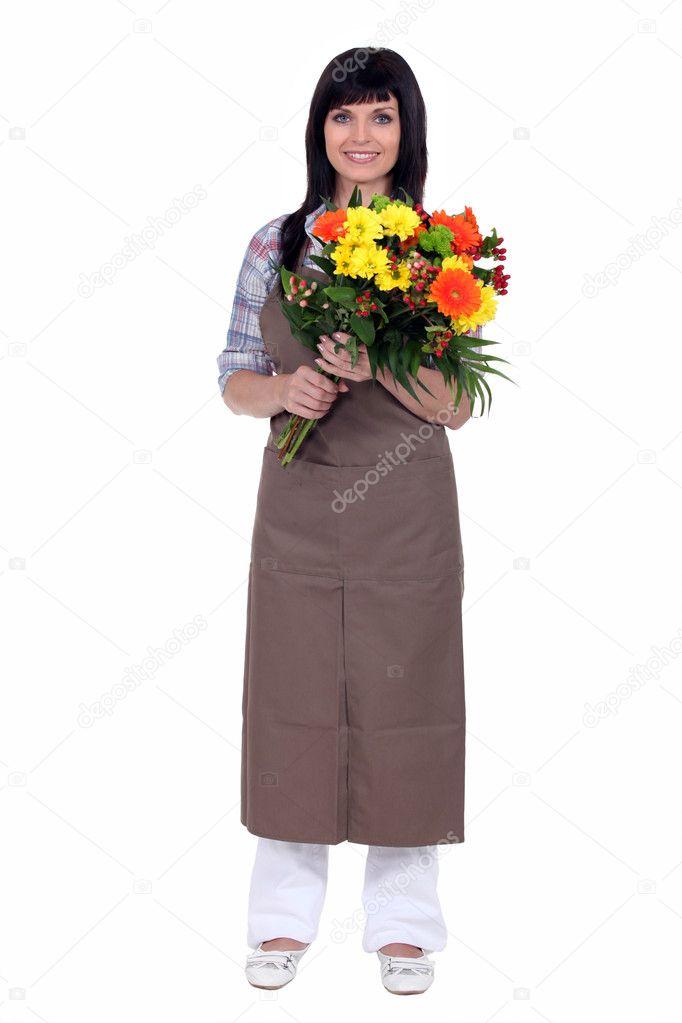 Fleuriste tenant un bouquet photographie photography33 for Trouver un fleuriste