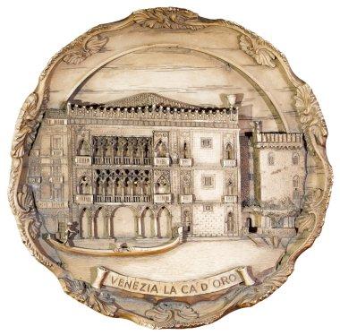 Souvenir plate depicting the Venice