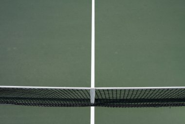 Tennis Court Lines and Net