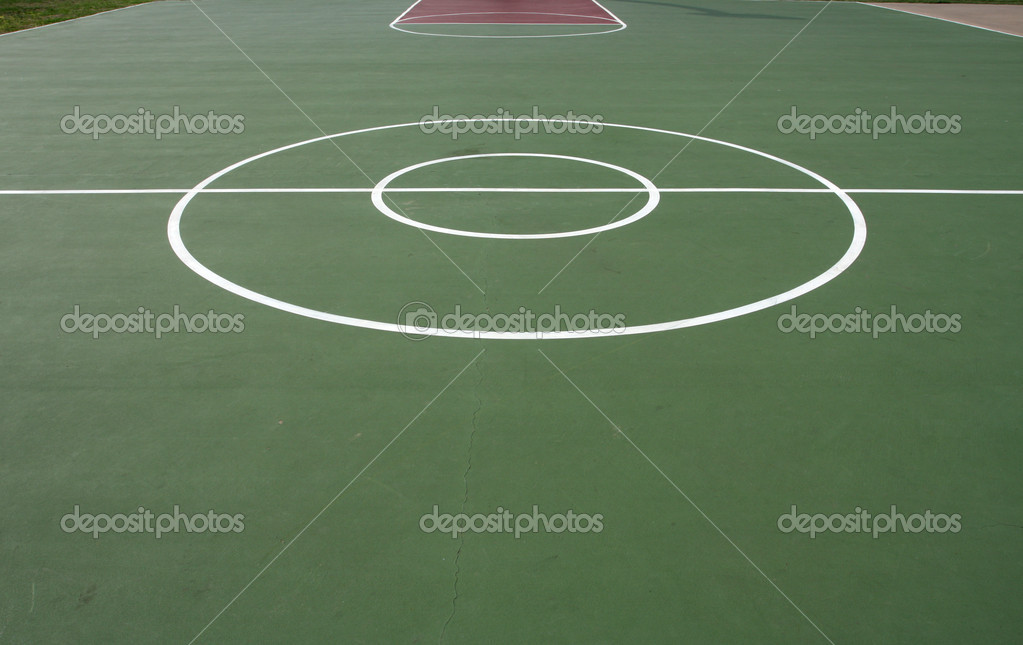 Outdoor Basketballplatz — Stockfoto © 33ft #6923641