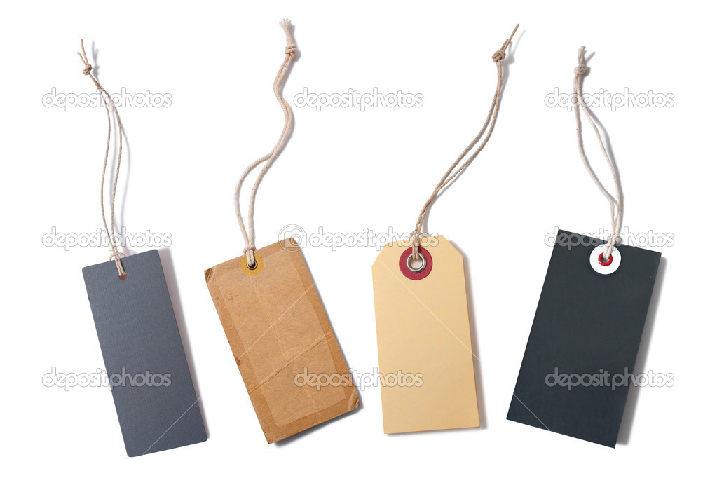 Set of the blank tags