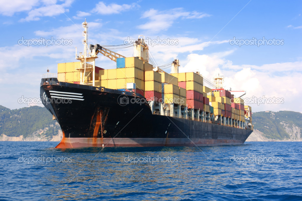 Transportation, containers ship