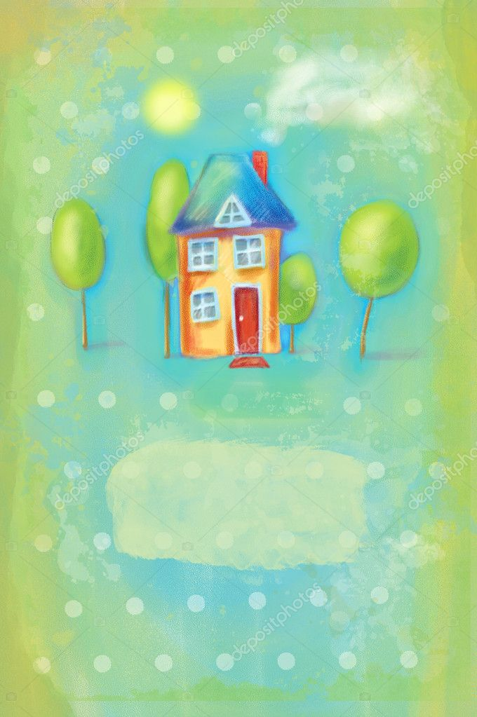 House design can be used as a greeting card. stock vector