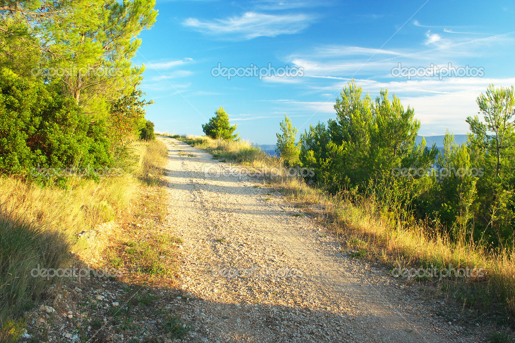 The journey from Makarska along the Croatian coast.
