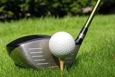 řidič a golf ball