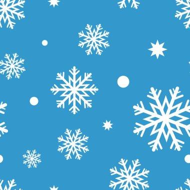 White snow- flakes