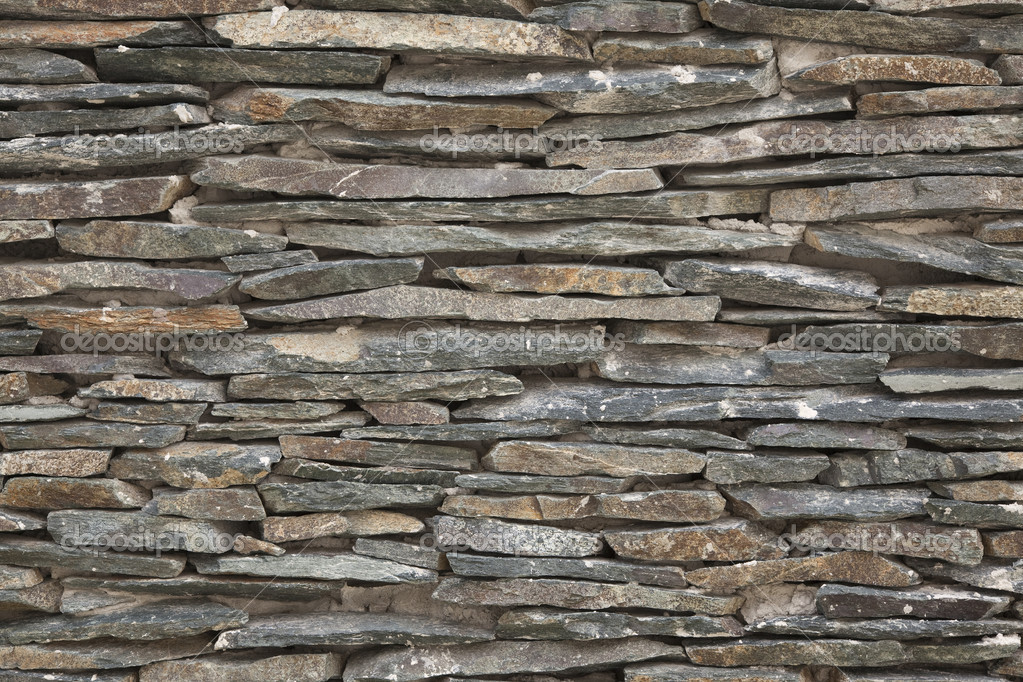 Leisteen stenen muur achtergrond oude gevel stockfoto beachboy 7108920 - Leisteen muur ...
