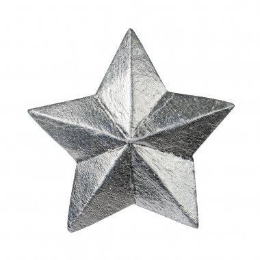 Silver glossy christmas star ornament