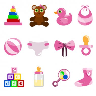 Baby object icons