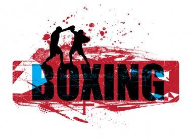 Boxing grunge background