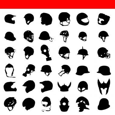 Vector helmet silhouette