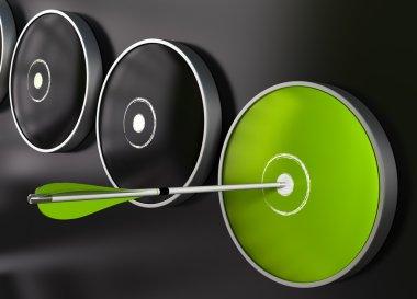 Effectiveness - green target and arrow