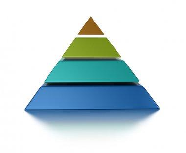 Sliced pyramic, 4 levels