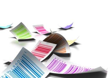 Multicolored bar codes
