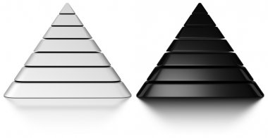 Black and white pyramids