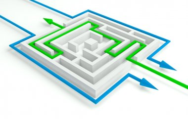 Several Solutions to the Maze, 3d Business Concept