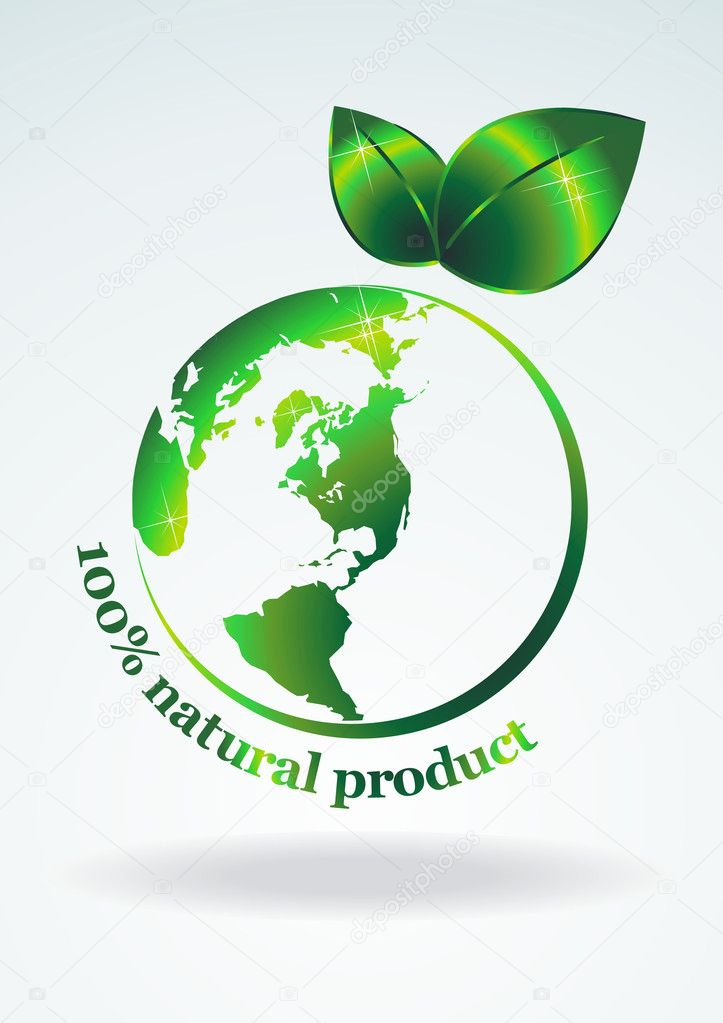 Symbol green planet.