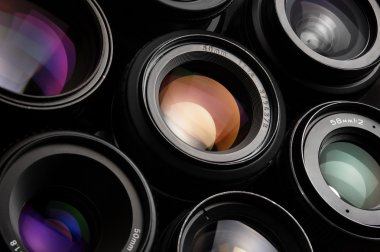 Colorful camera lenses