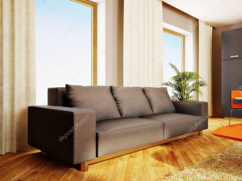 Moderne Innenraum Mit Schöne Möbel Im Inneren U2014 Stockfoto