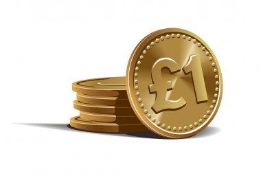 Pound coins vector illustration