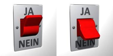 Flip switch - Ja-Nein