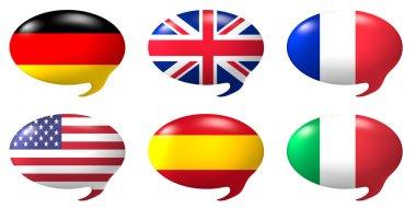 Speech balloon - nations