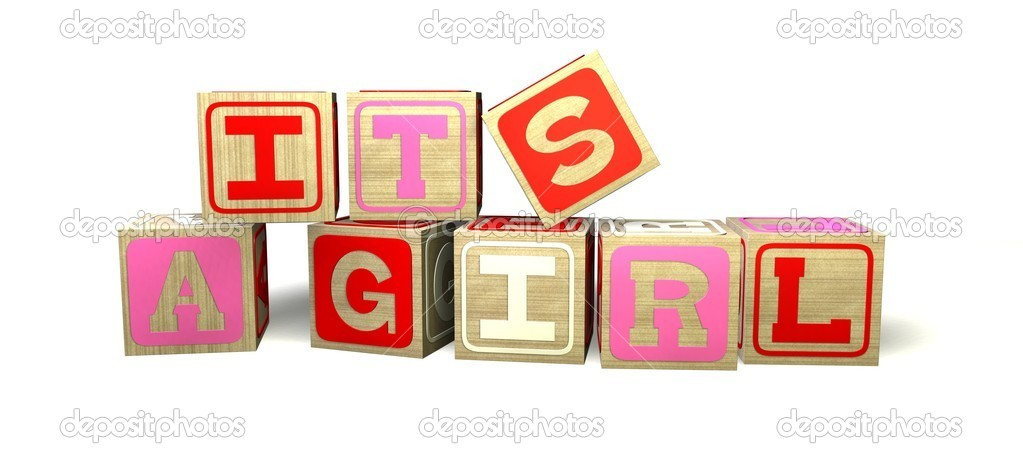 Baby Blocks - IT'S A GIRL — Stock Photo © lilu_foto #7782088